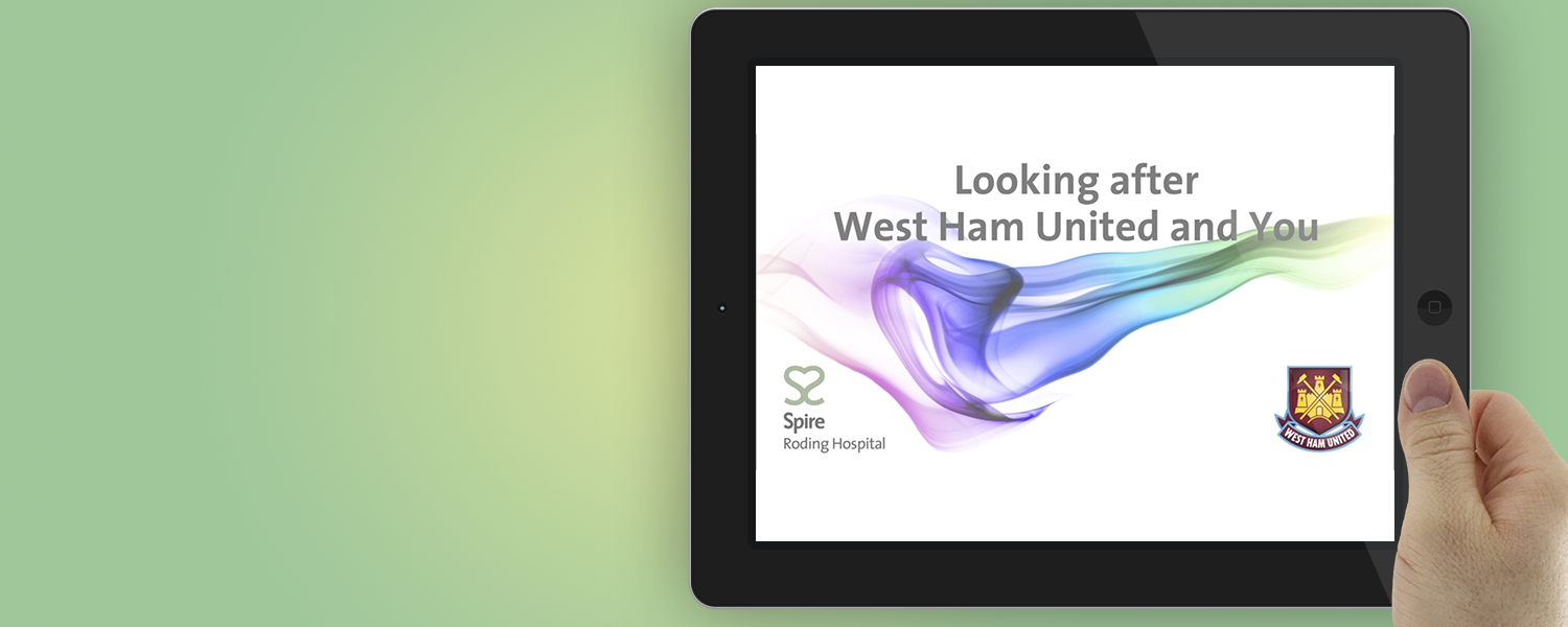Dual branding campaign for Spire Roding Hospital & West Ham United